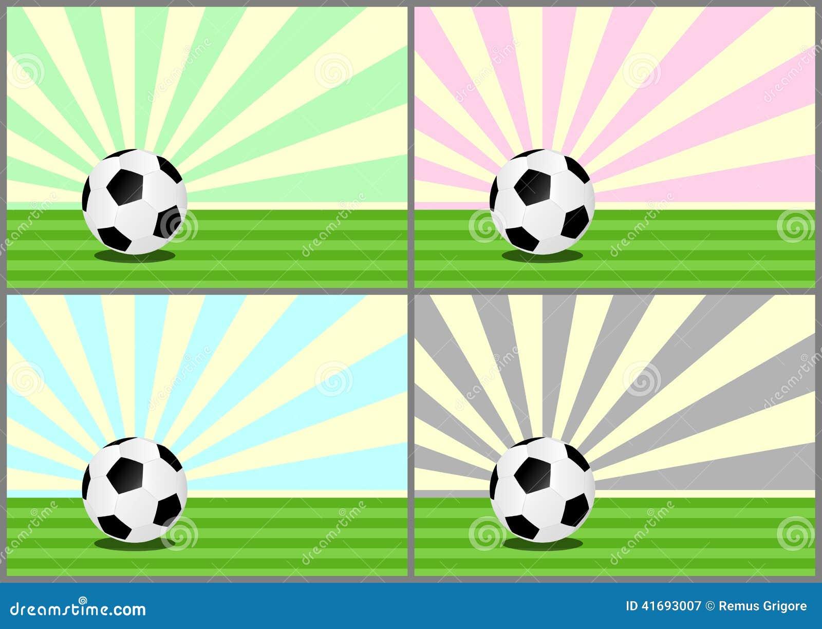Illustrationen för bollar 3d framförde fotboll