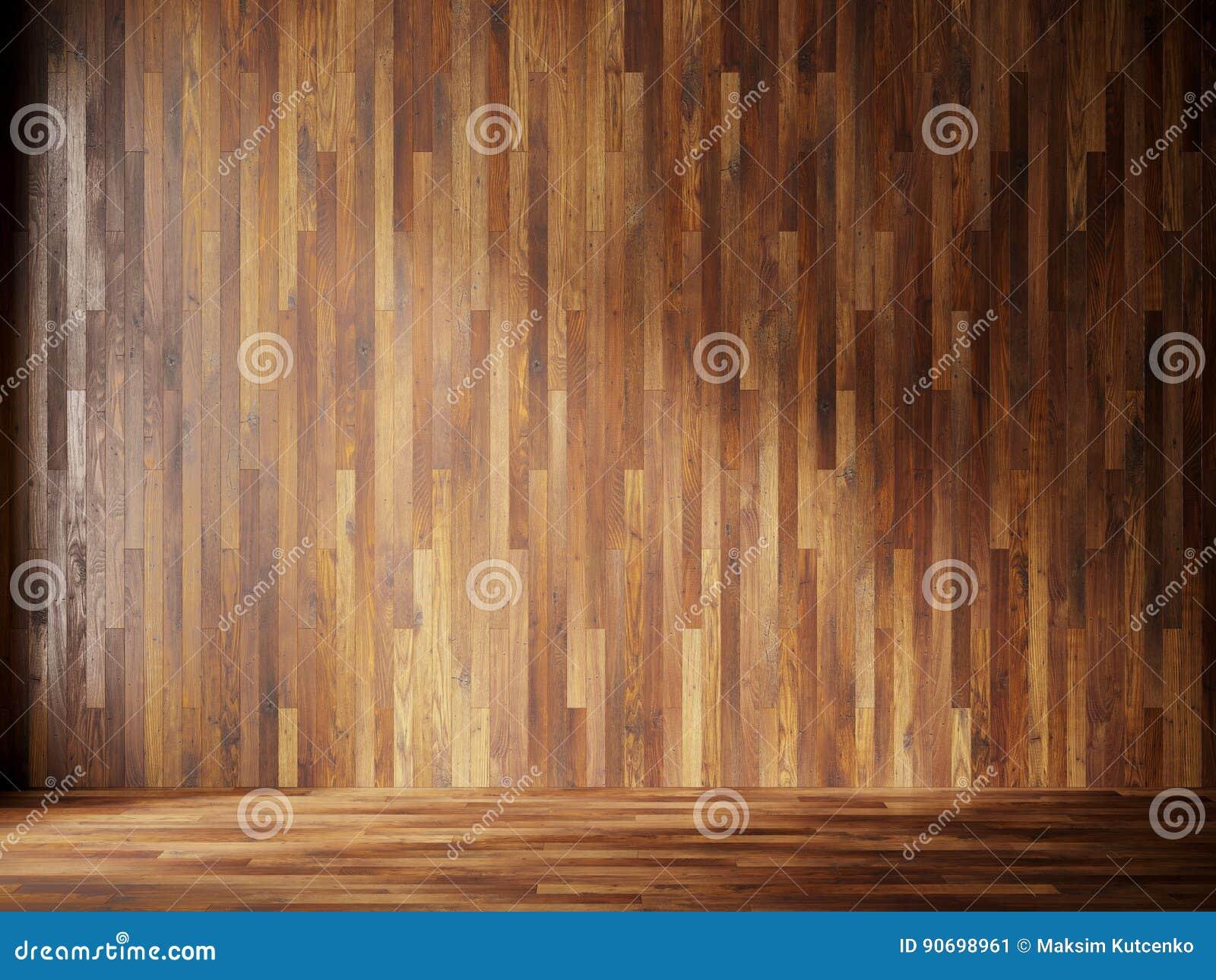 In Legno Wood Design illustrationen framför den naturliga inre med wood