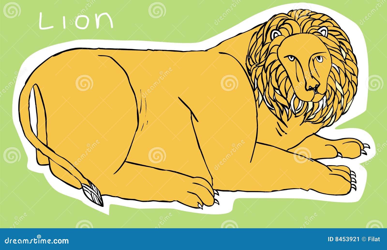 Illustrationlion