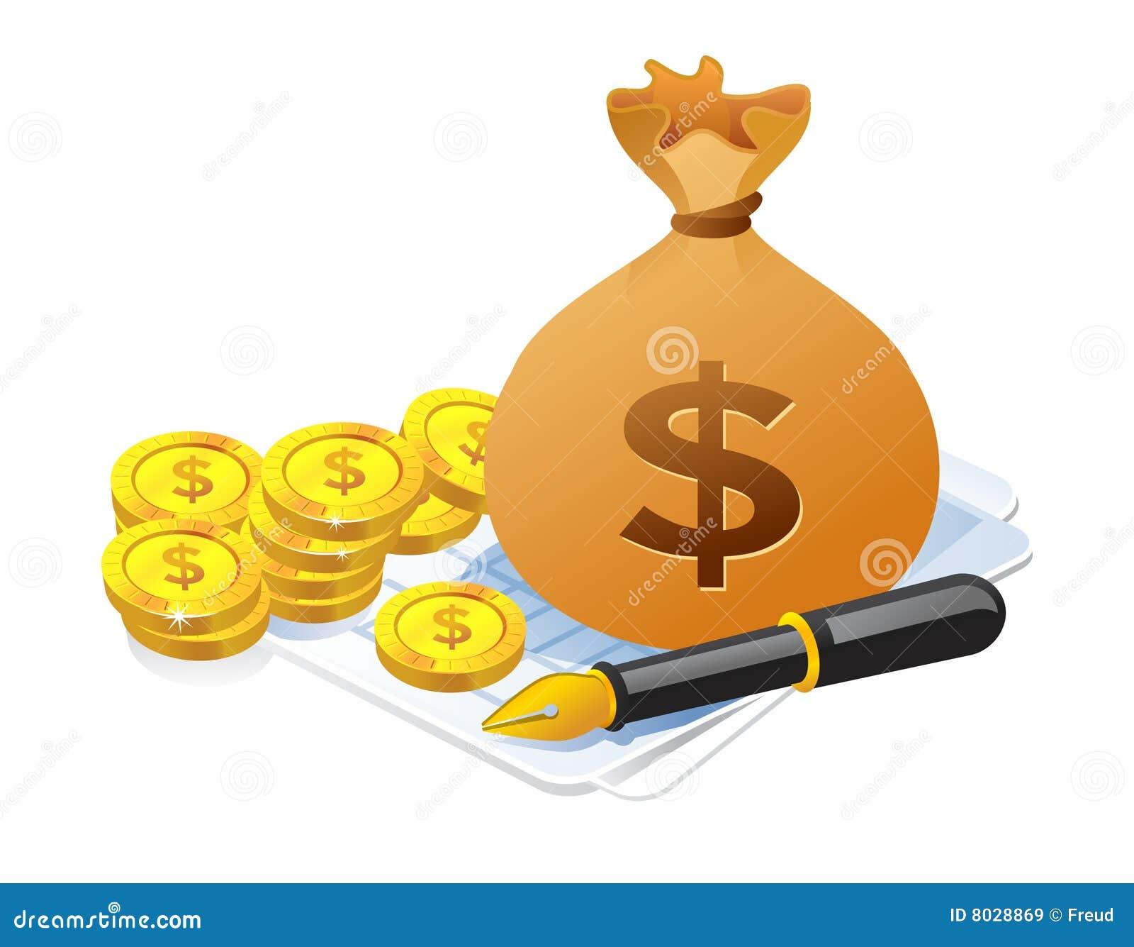 Illustrationpengarpåse
