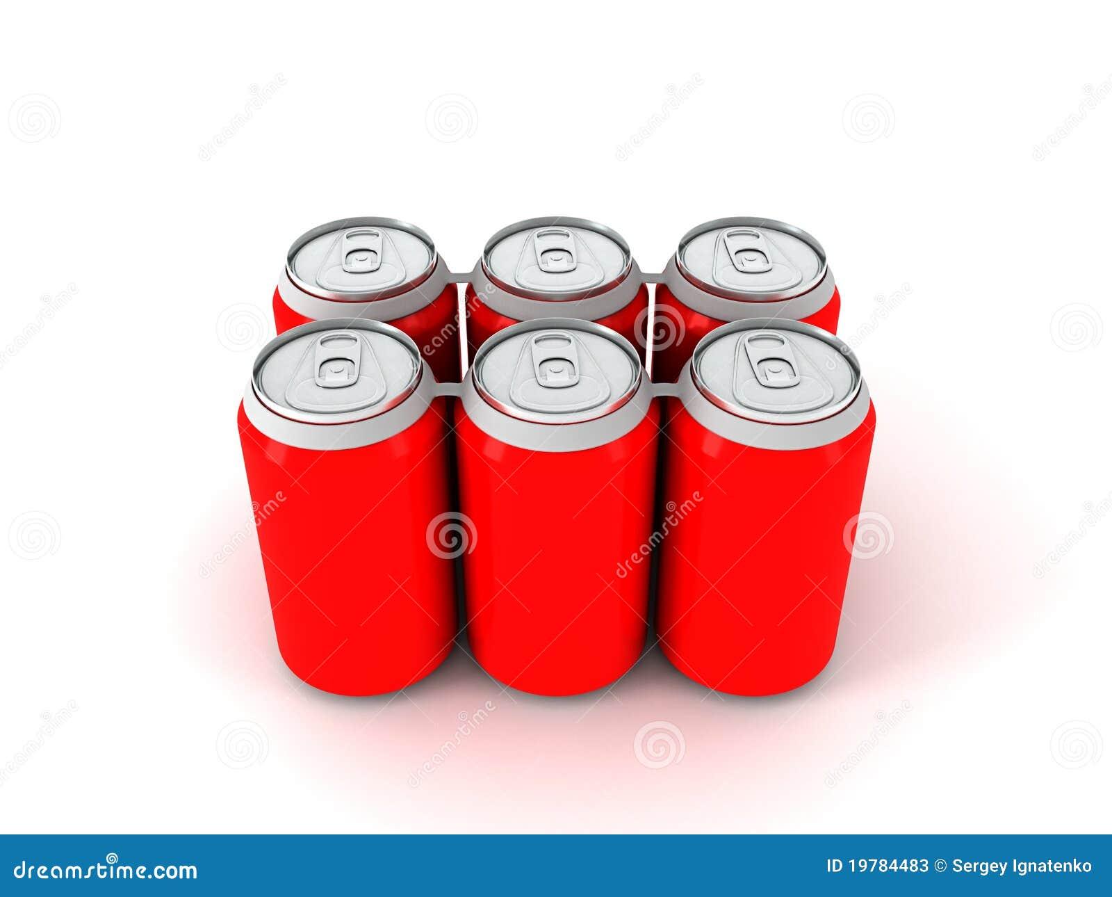 Illustrationred sex för aluminum cans 3d