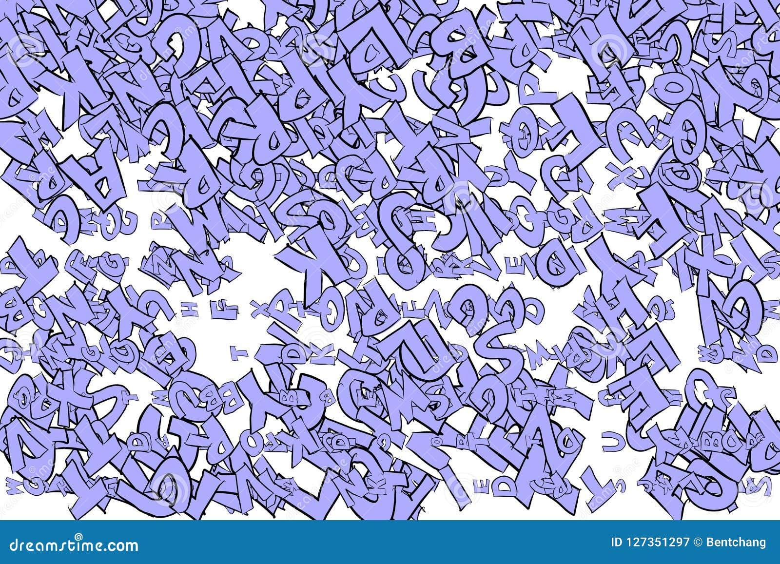 Illustrations Of Alphabets Letters Wallpaper Pattern