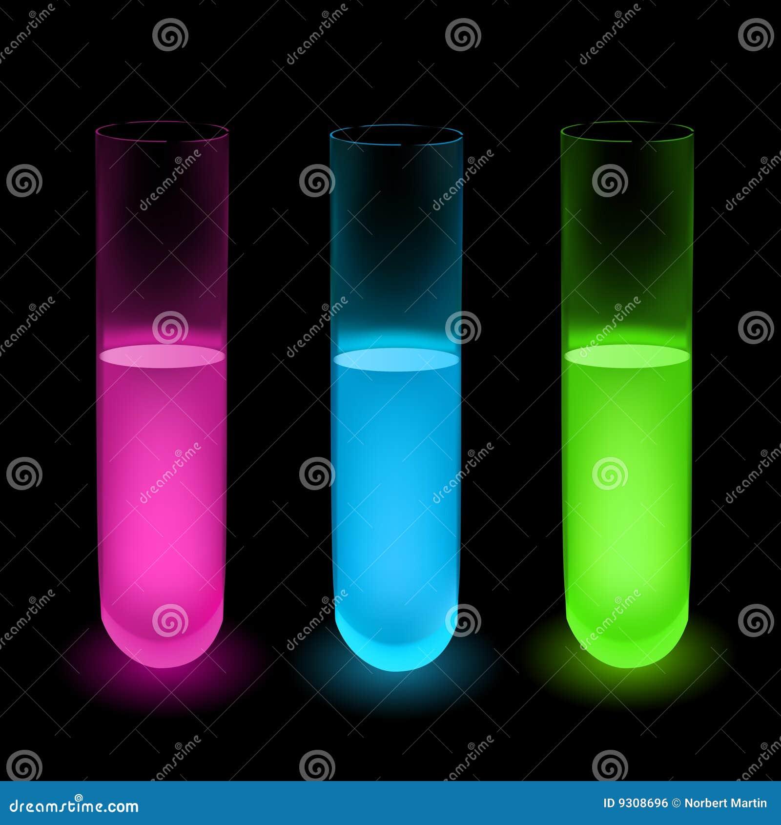 Illustrations colorées de liquide de vecteur
