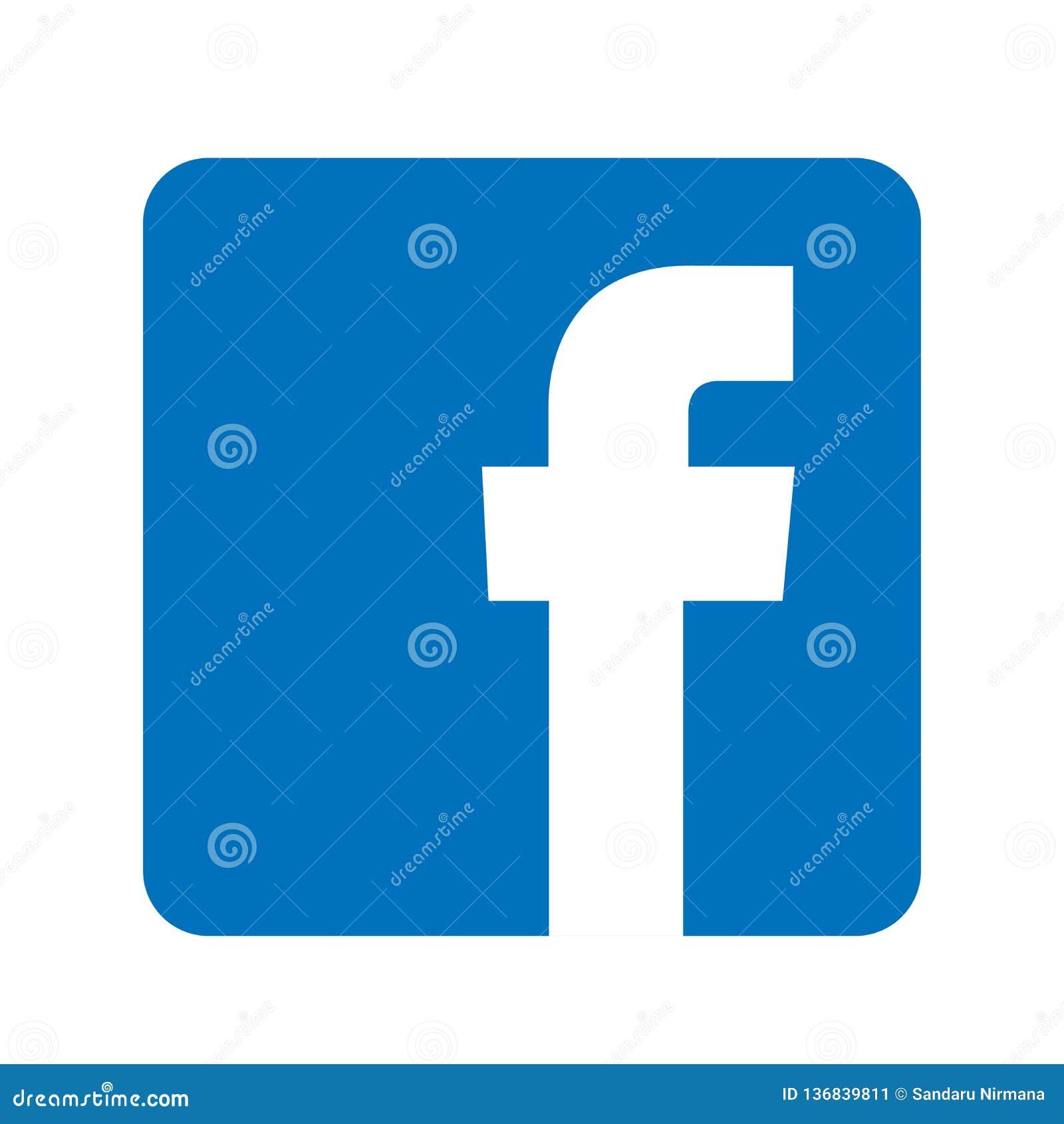 Illustrations De Vecteur D Icone De Logo De Facebook Sur Le Fond