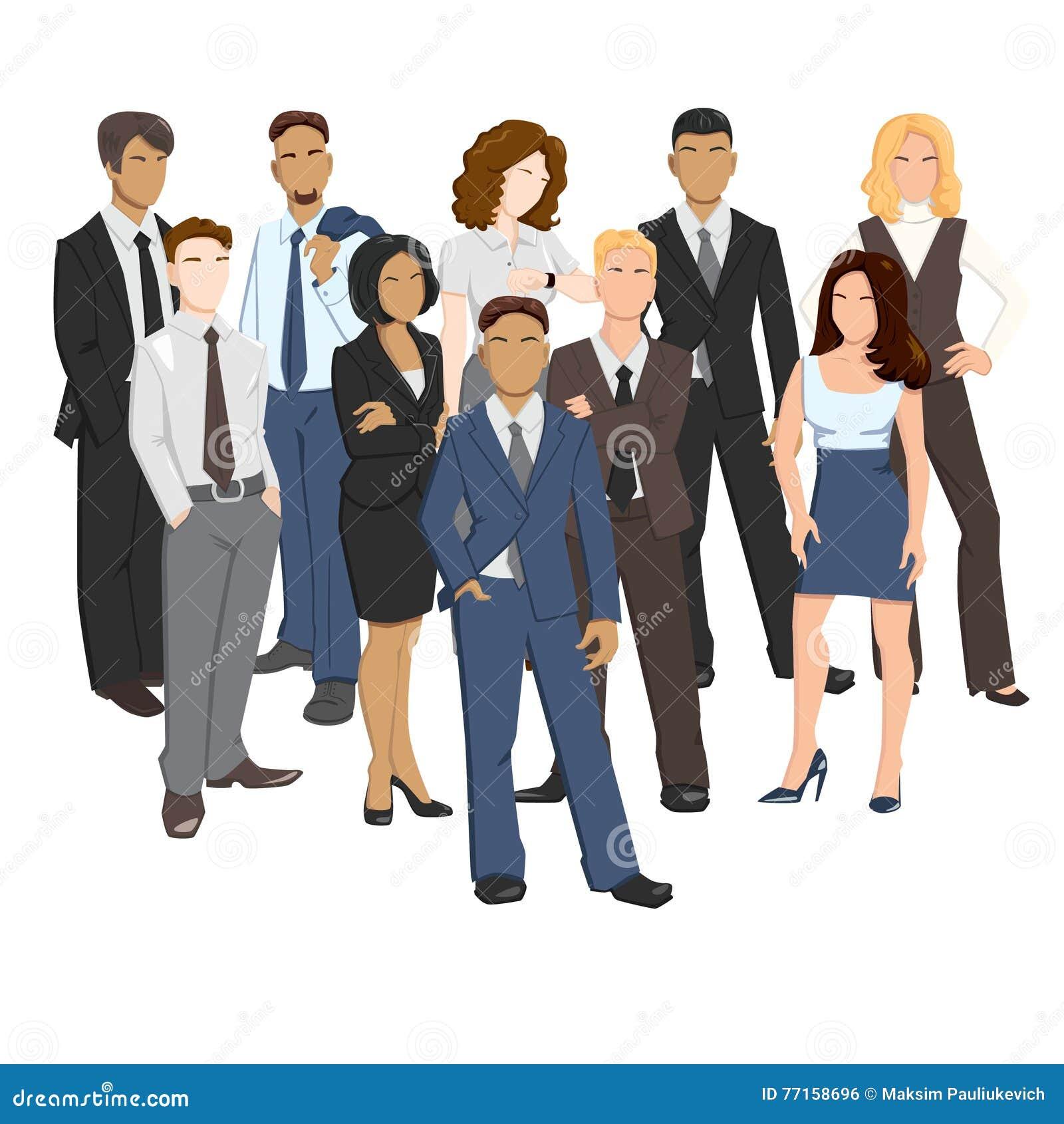 Illustrations de vecteur des gens d affaires