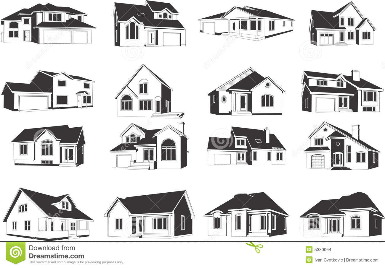 illustrations of houses stock vector illustration of drawing 5330064
