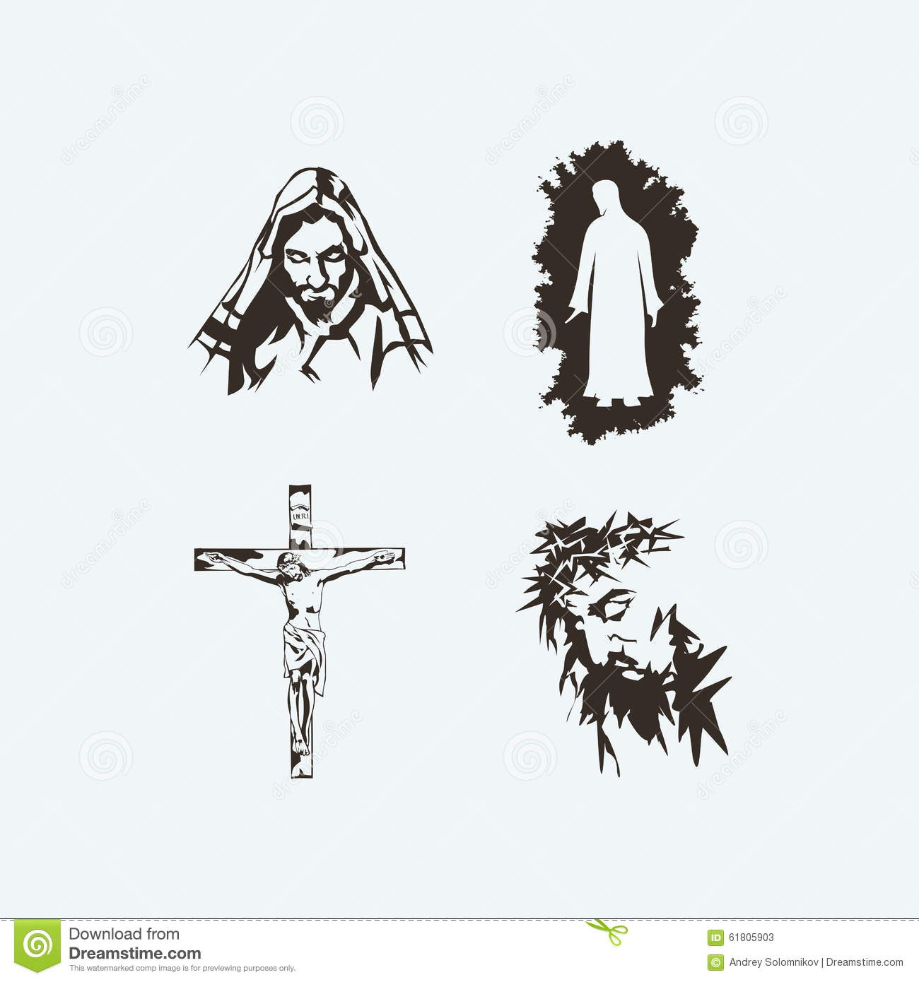 Stock Photo: Illustrations of Jesus Christ hand-drawn. Image: