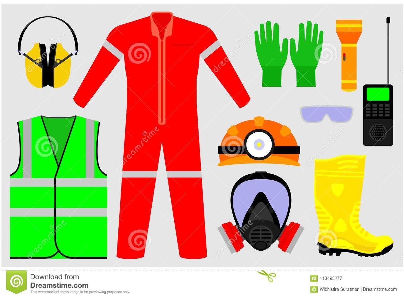 Illustrations of safety tools