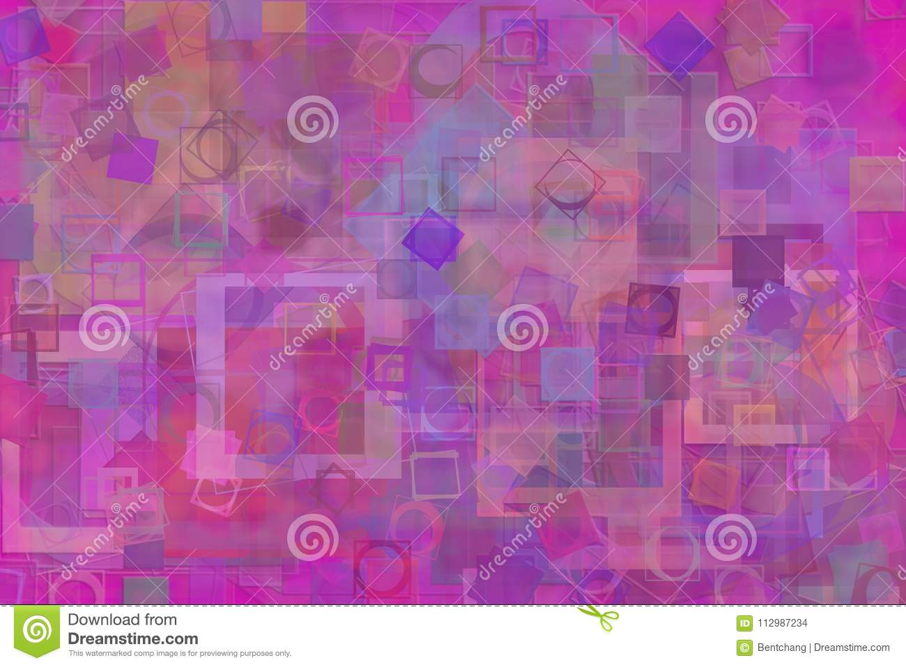 Illustrations of shape. For wallpaper or graphic design. Pattern, color, cover, brushed & square.
