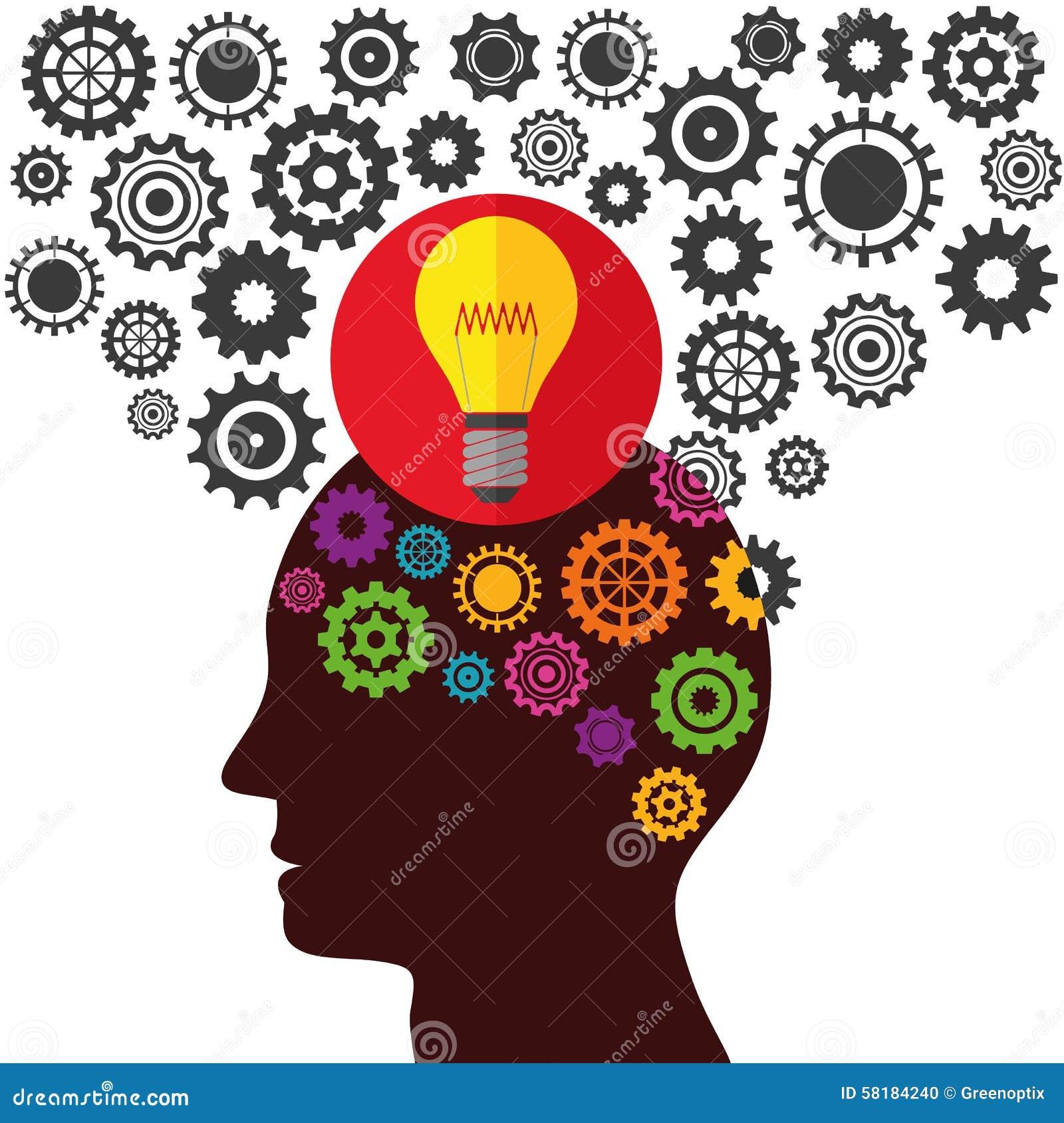Illustrations-Vektor-Grafik-Kreativität Und Ideen Vektor Abbildung ...