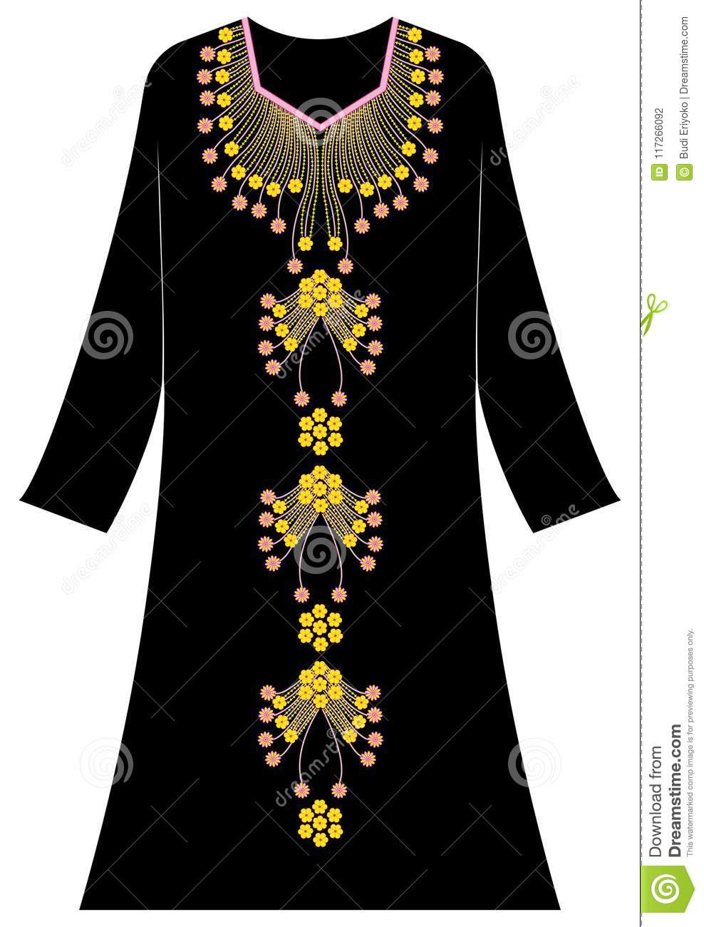 Women S Clothing Unique And Interesting Style Stock Vector Illustration Of Clothinglily Black 117266092
