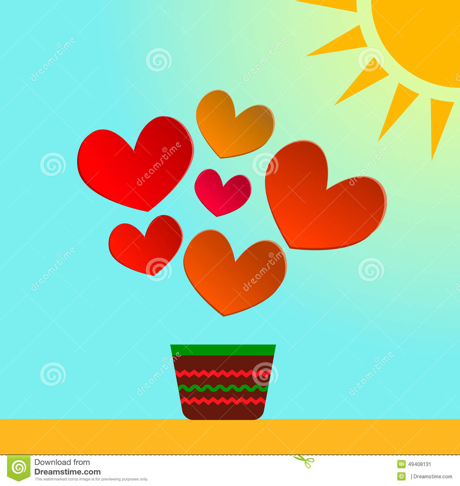 Download Illustrationskarte Des Valentinstags Mit Papierherzen Zusätzliches Format ENV 8 Vektor Abbildung - Illustration von valentine, sonne: 49408131