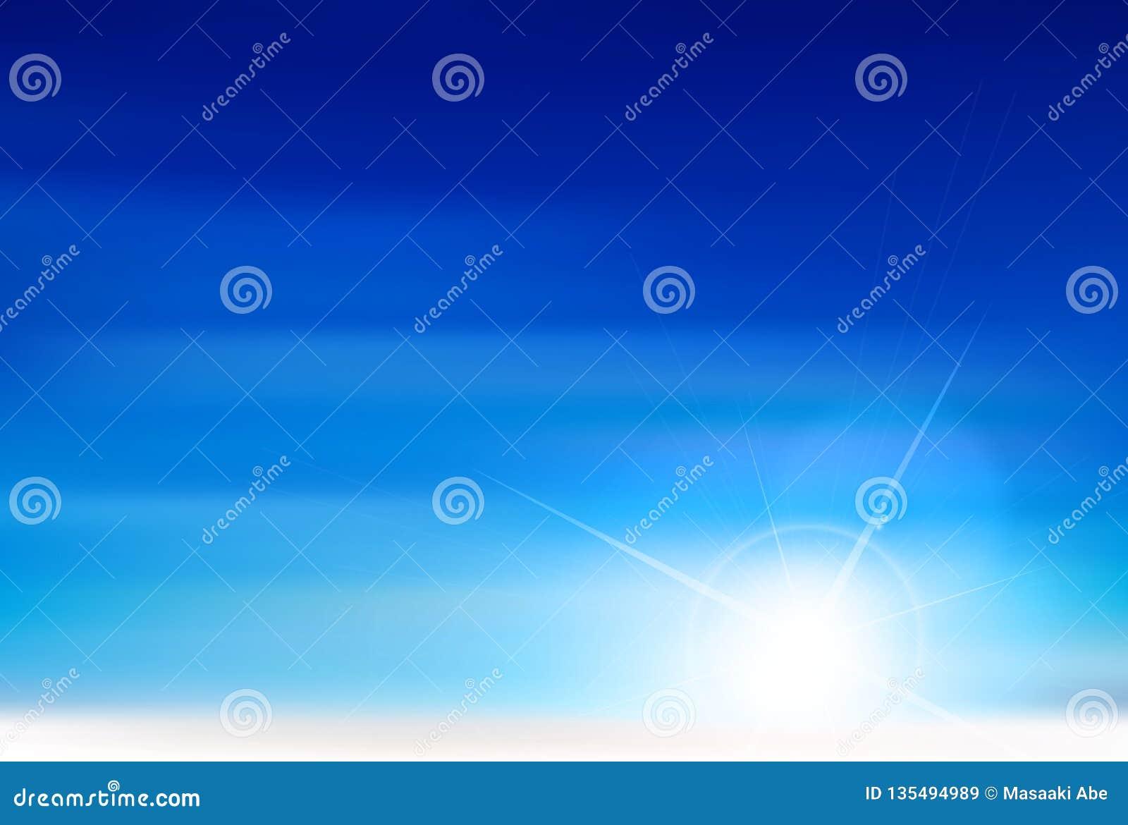 Illustrationsmaterial, das einen schönen japanischen Himmel sich vorstellt