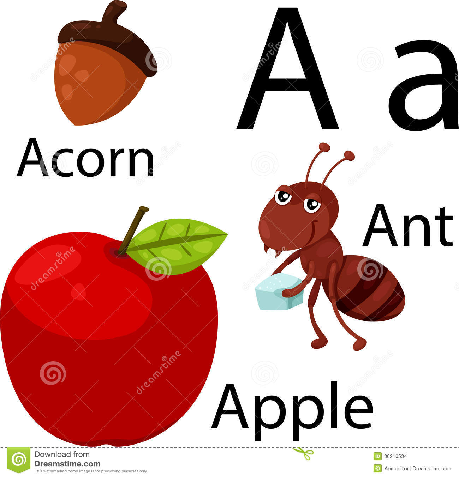 A Alphabet Images Illustrator of A alpha...
