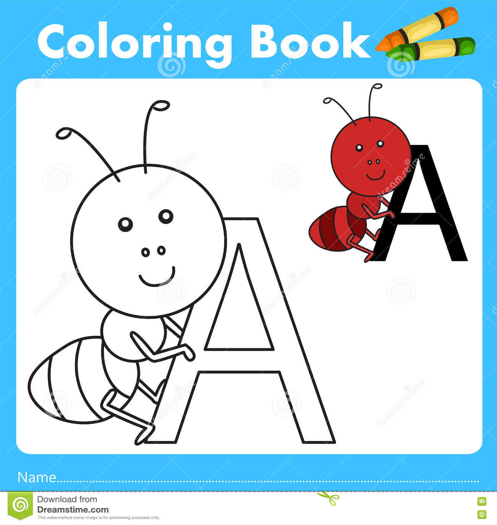 Book color illustrator - Animal Ant Book Color Education Illustrator