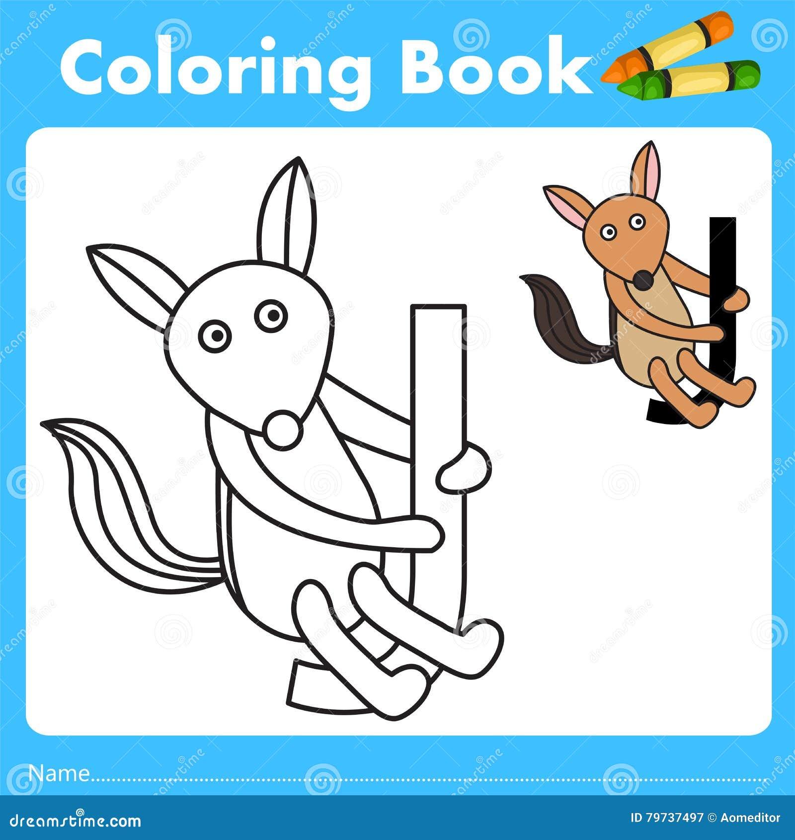Book color illustrator - Illustrator Of Color Book With Jackal Animal
