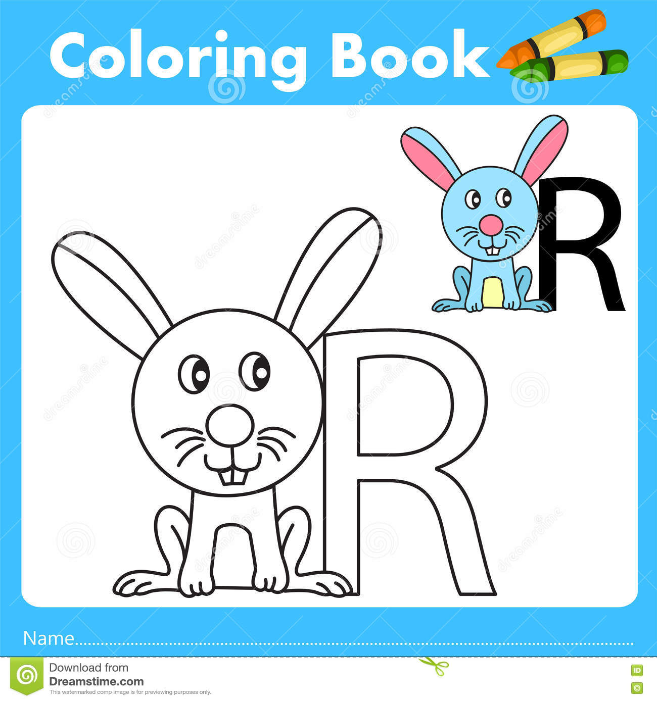 Book color illustrator - Illustrator Of Color Book With Rabbit Animal Stock Vector