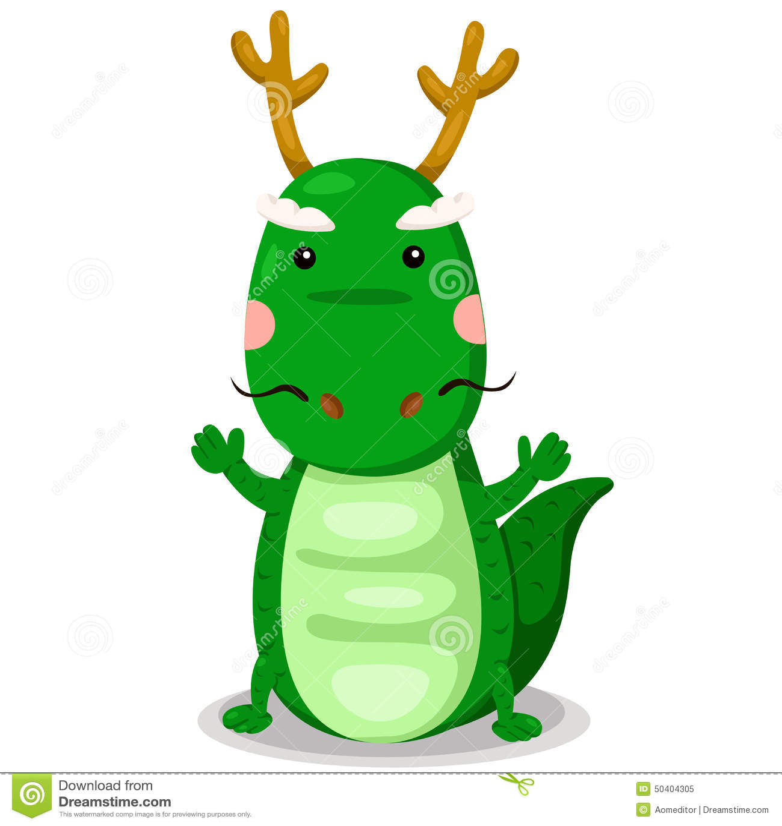 illustrator of dragon cute vector stock vector illustration of