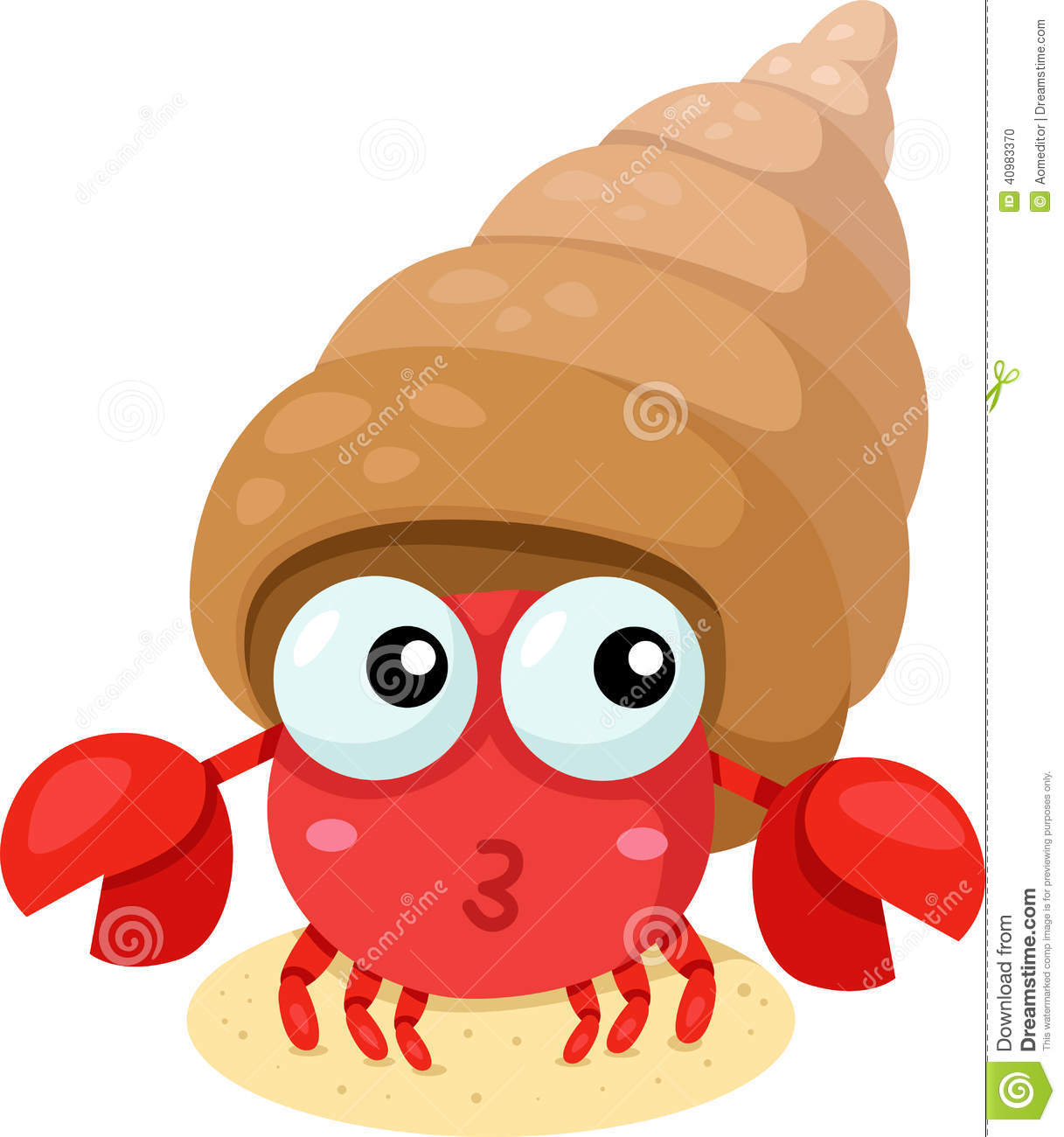 Funny hermit crab cartoon |Funny Animal