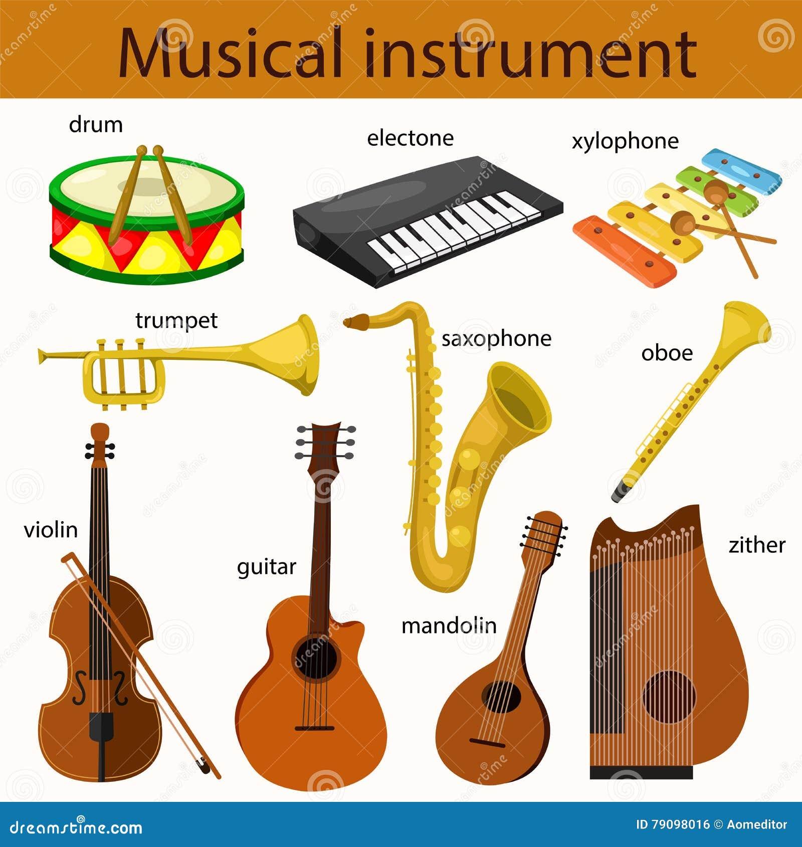 Illustrator van muzikaal instrument