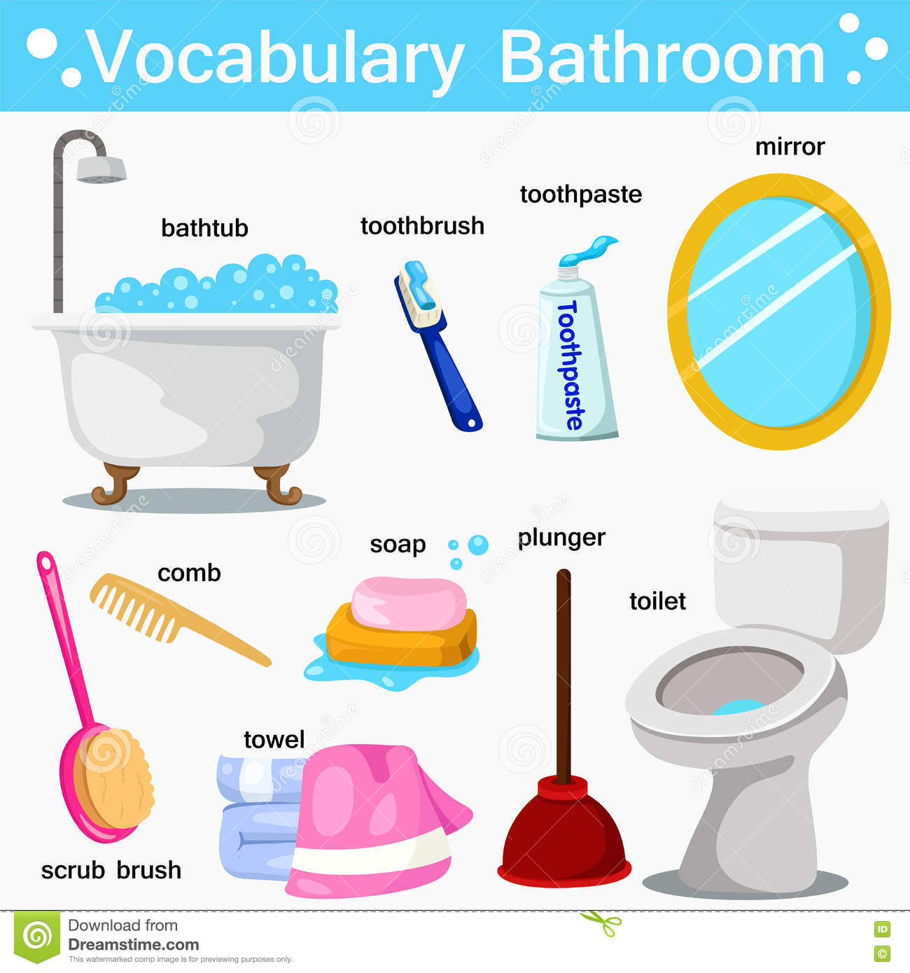 Innovative Vocabulary Worksheets Gt The House Gt The Bathroom Gt In The Bathroom