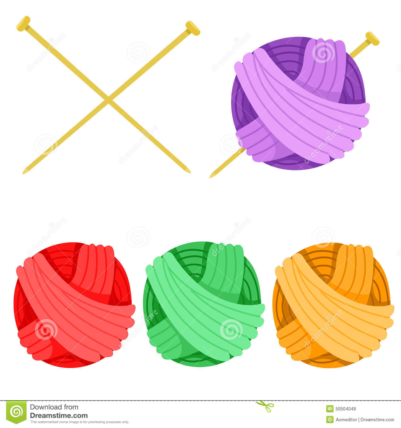 illustrator of yarn and color stock vector image 50504049