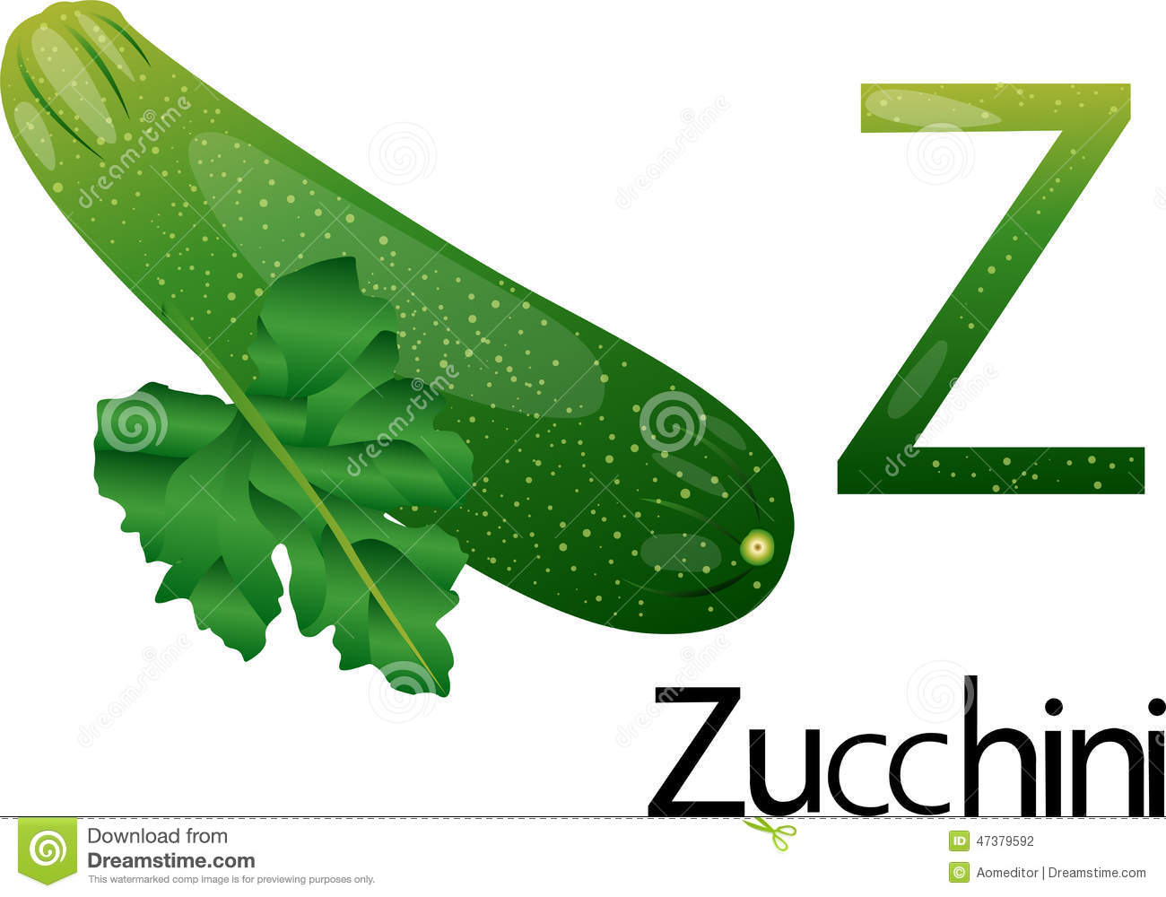 Line Drawing Zucchini : Illustrator z font with zucchini stock vector image