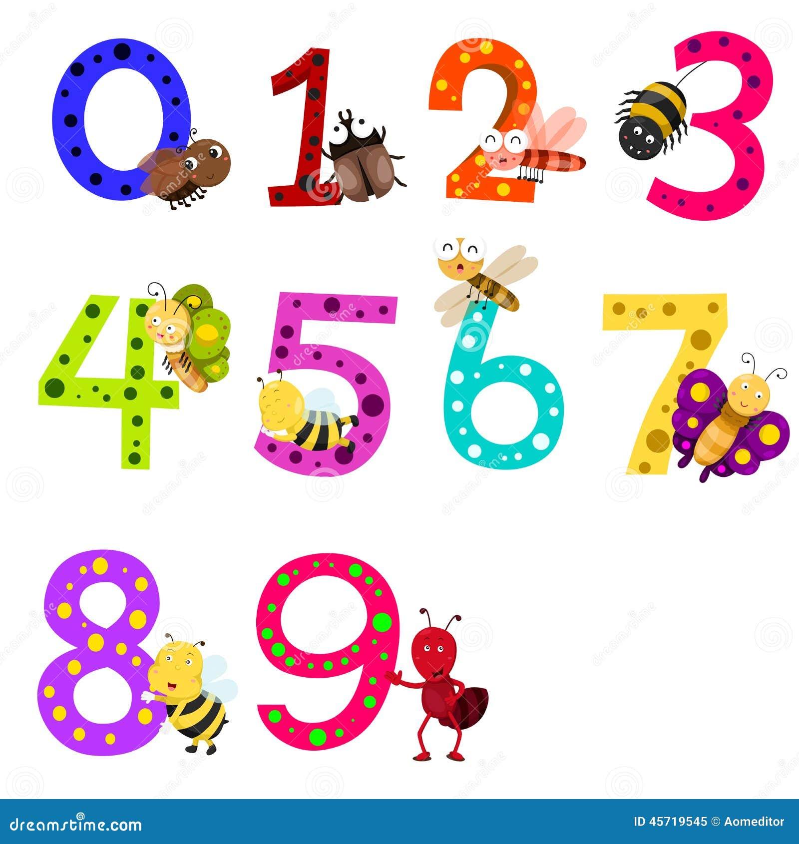 Illustratore dei numeri 0 9 con gli animali for Numero dei deputati e dei senatori