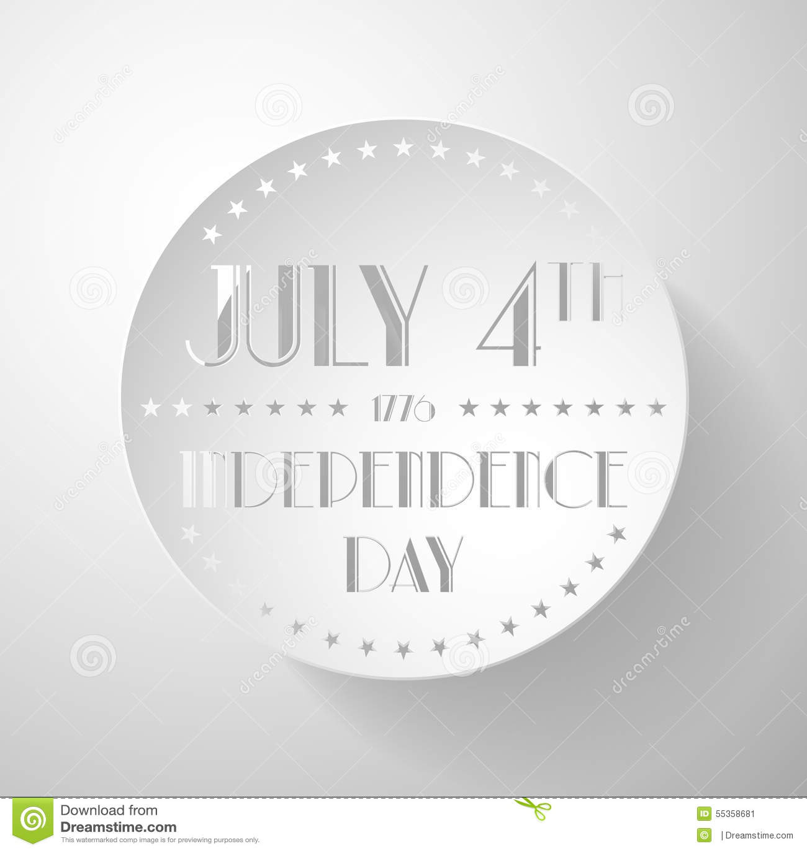 Illustrazione americana di festa dell indipendenza