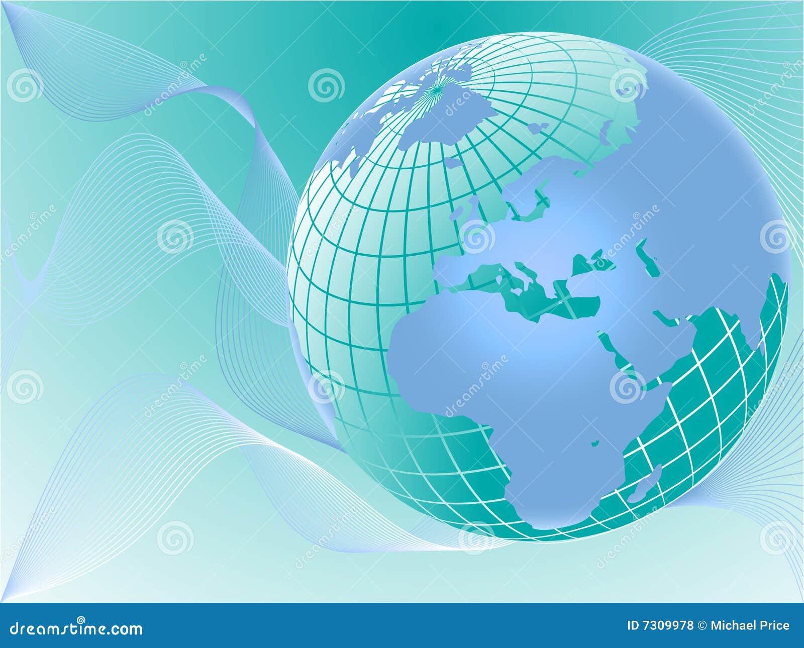 Illustrazione blu di vettore del globo