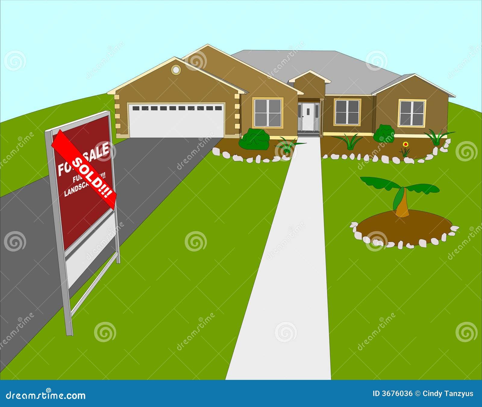 Download Illustrazione A Casa Venduta Modific Il Terrenoare Illustrazione Vettoriale - Illustrazione di live, investimento: 3676036
