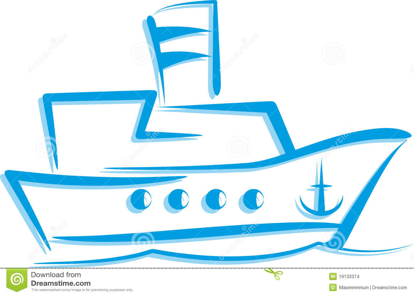 Illustrazione con una nave