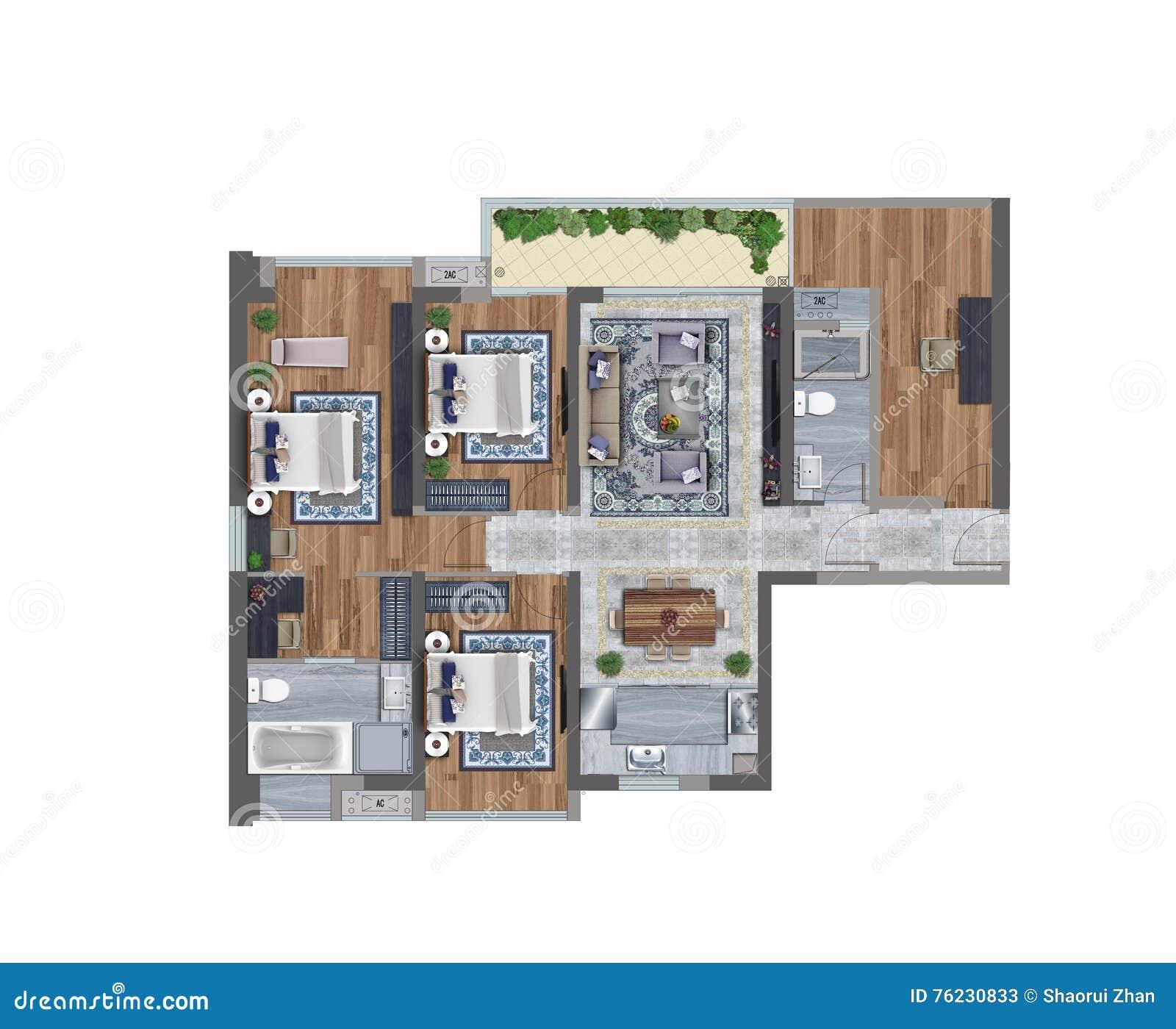 Piante Da Appartamento 3d.Illustrazione 3d Di Una Pianta Dell Appartamento Illustrazione Di