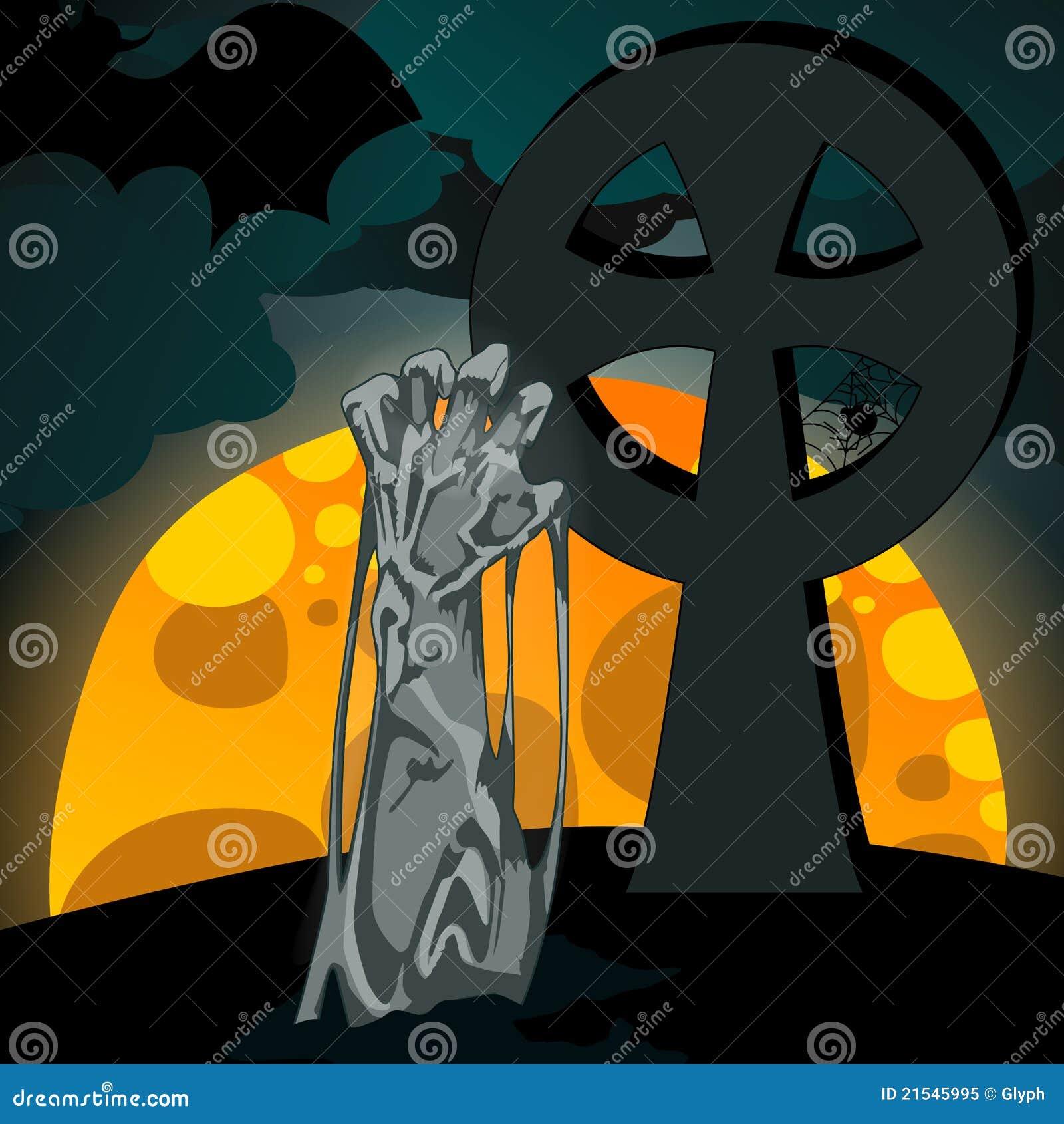 Illustrazione dei undead che aumentano dalla tomba