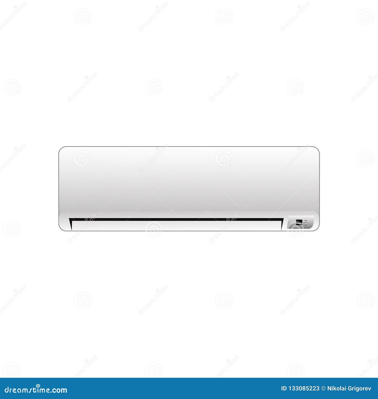 Illustrazione del condizionatore di vettore su un fondo bianco