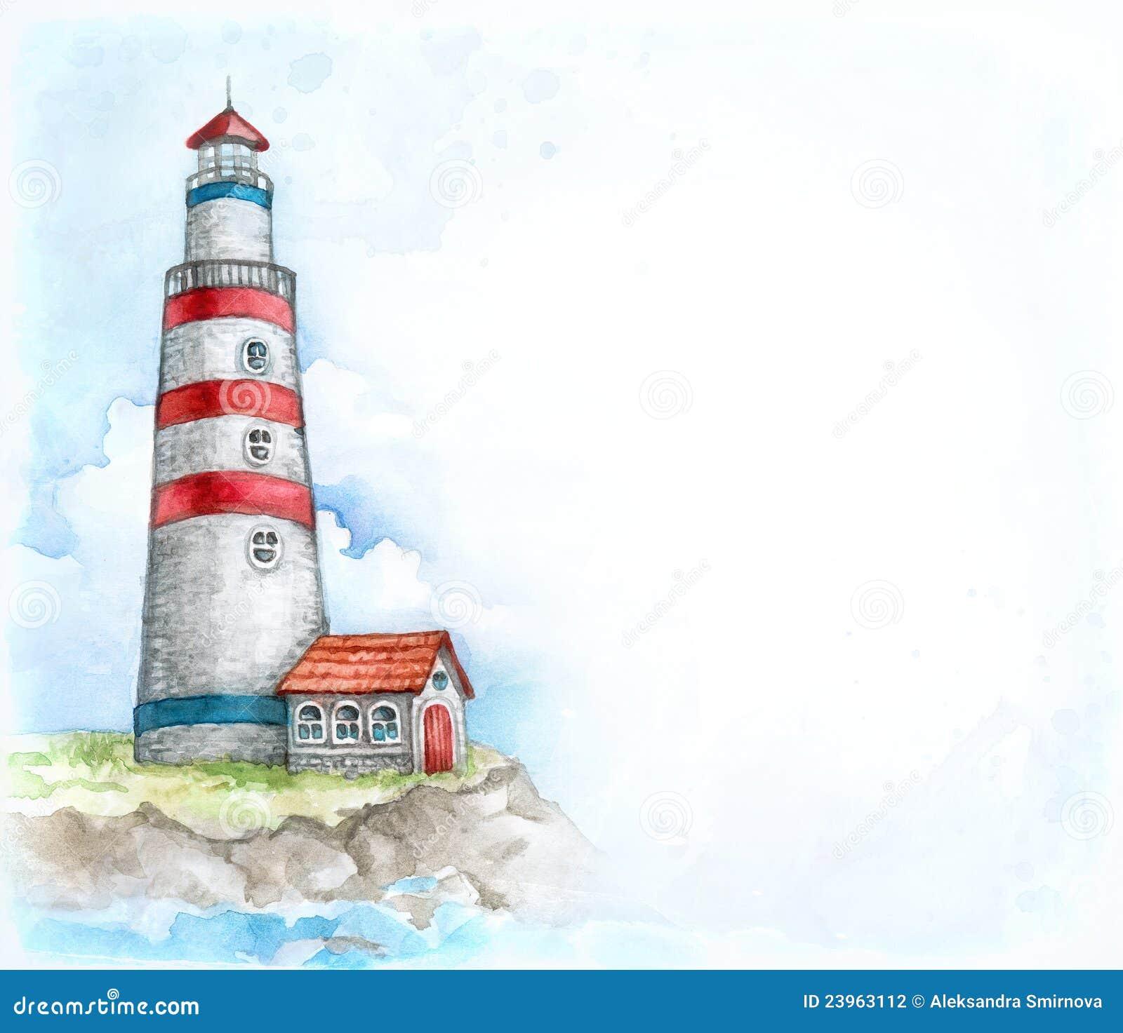 Illustrazione Del Faro Fotografia Stock Immagine 23963112