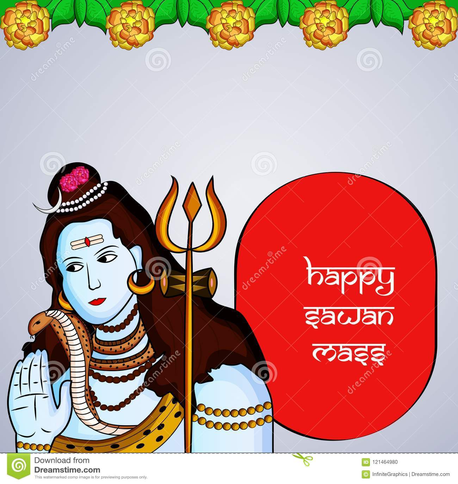 Illustrazione del festival indù Sawan Massachussets