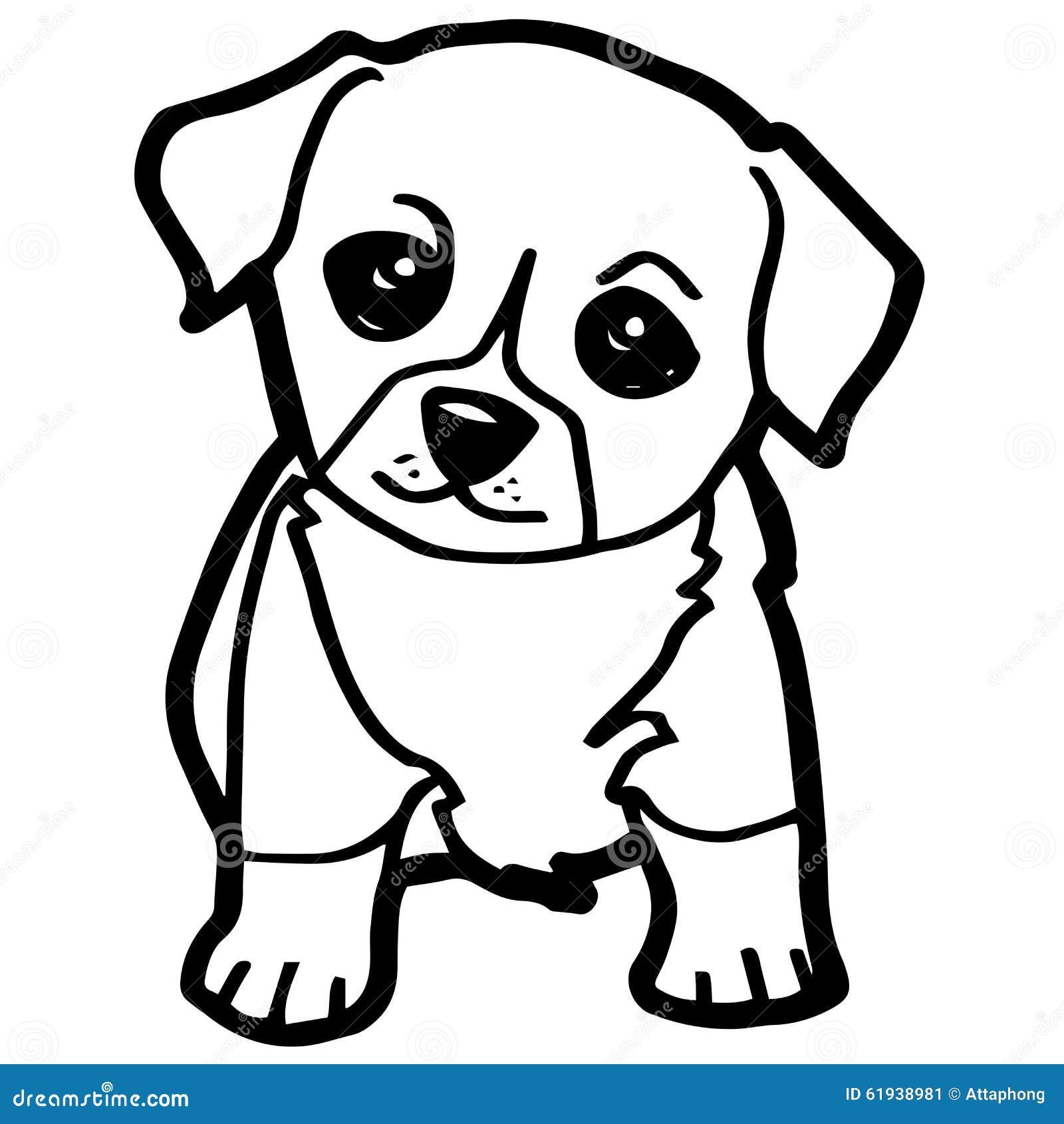 Illustrazione del fumetto del cane divertente per il libro for Disegni da stampare e colorare di cani