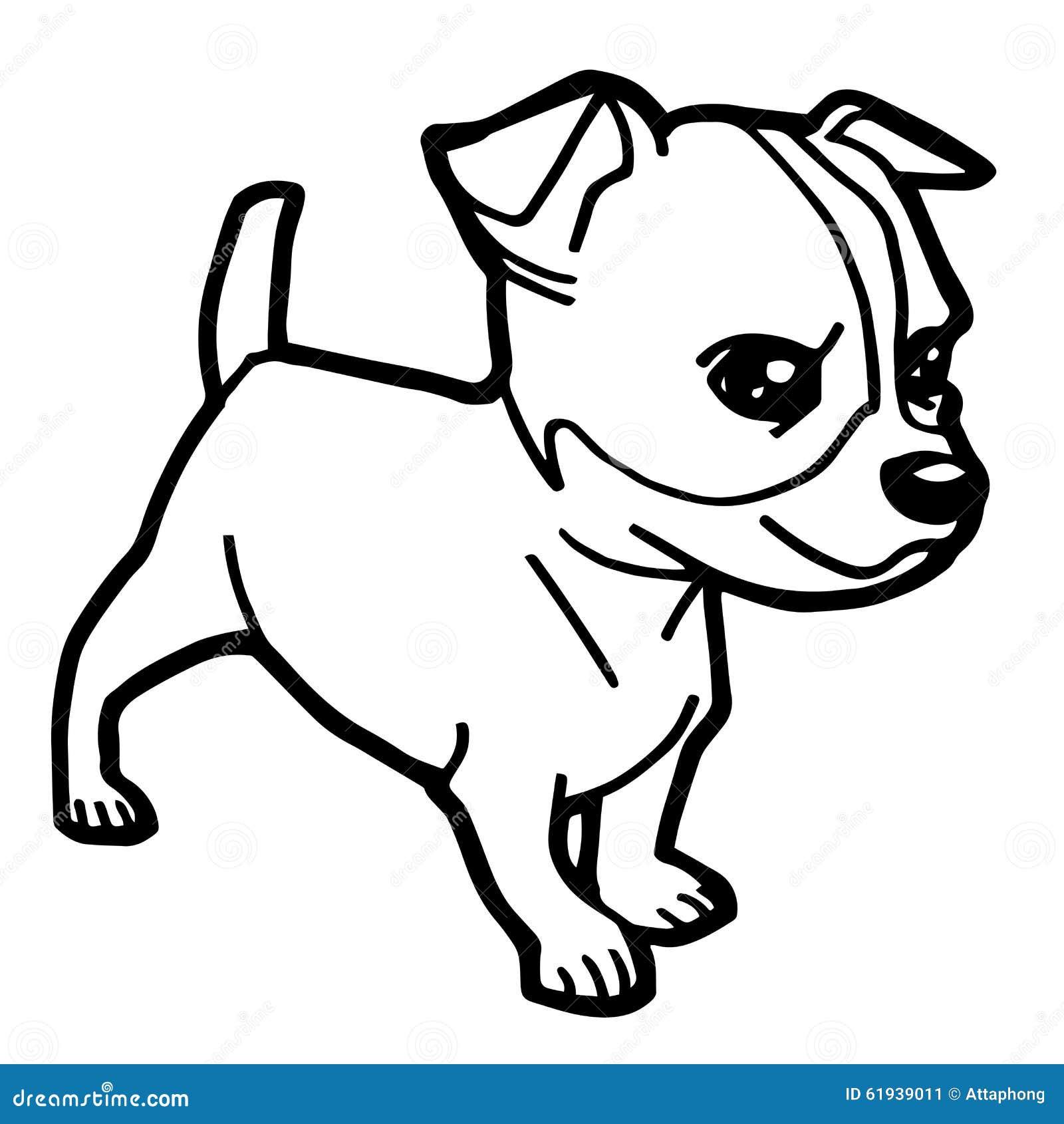 Illustrazione del fumetto del cane divertente per il libro for Cane da colorare e stampare