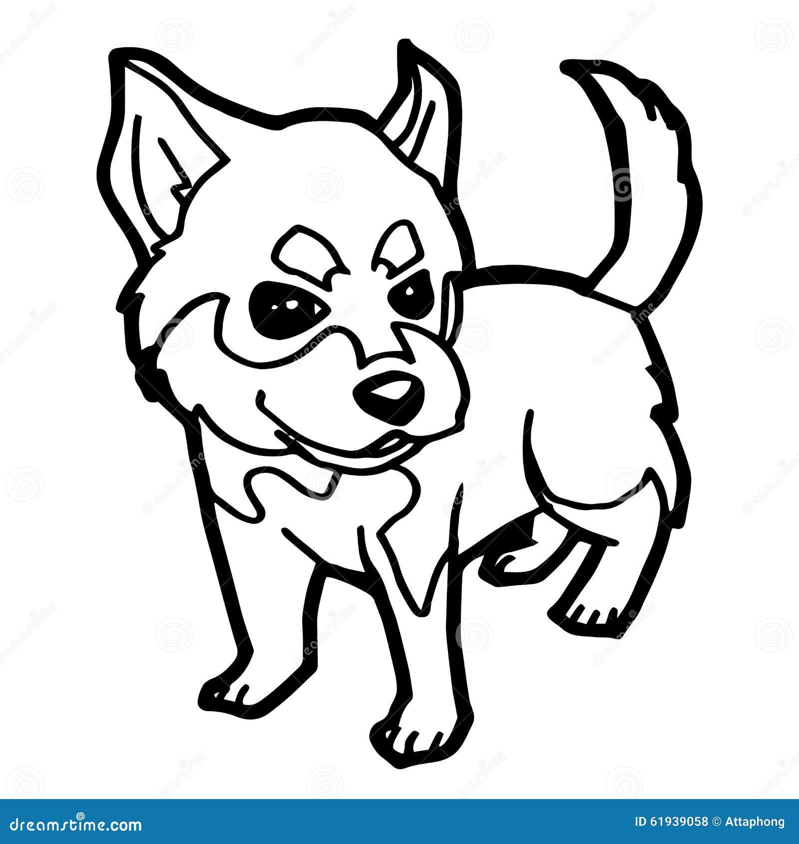Illustrazione del fumetto del cane divertente per il libro for Immagini di cani da colorare
