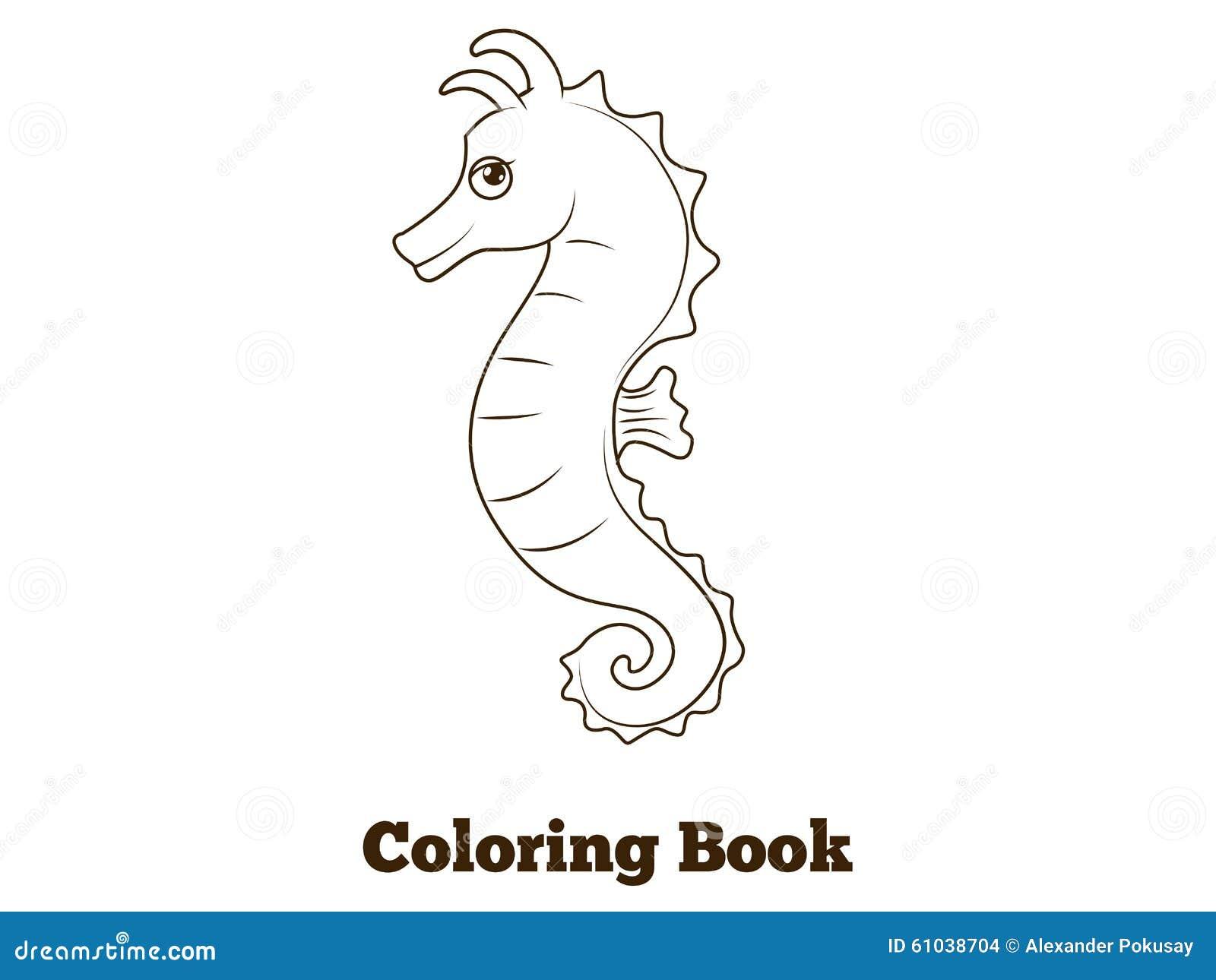 Illustrazione Del Fumetto Del Pesce Del Cavalluccio Marino Del Libro