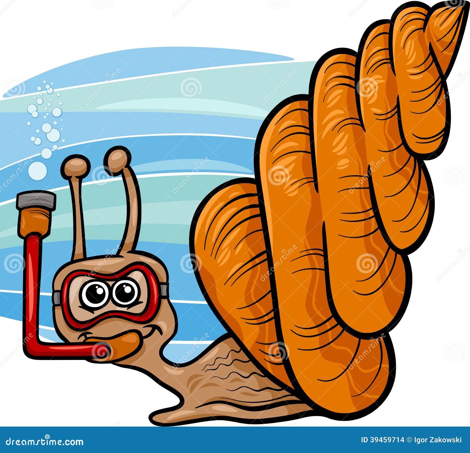Illustrazione del fumetto della lumaca di mare for Clipart mare