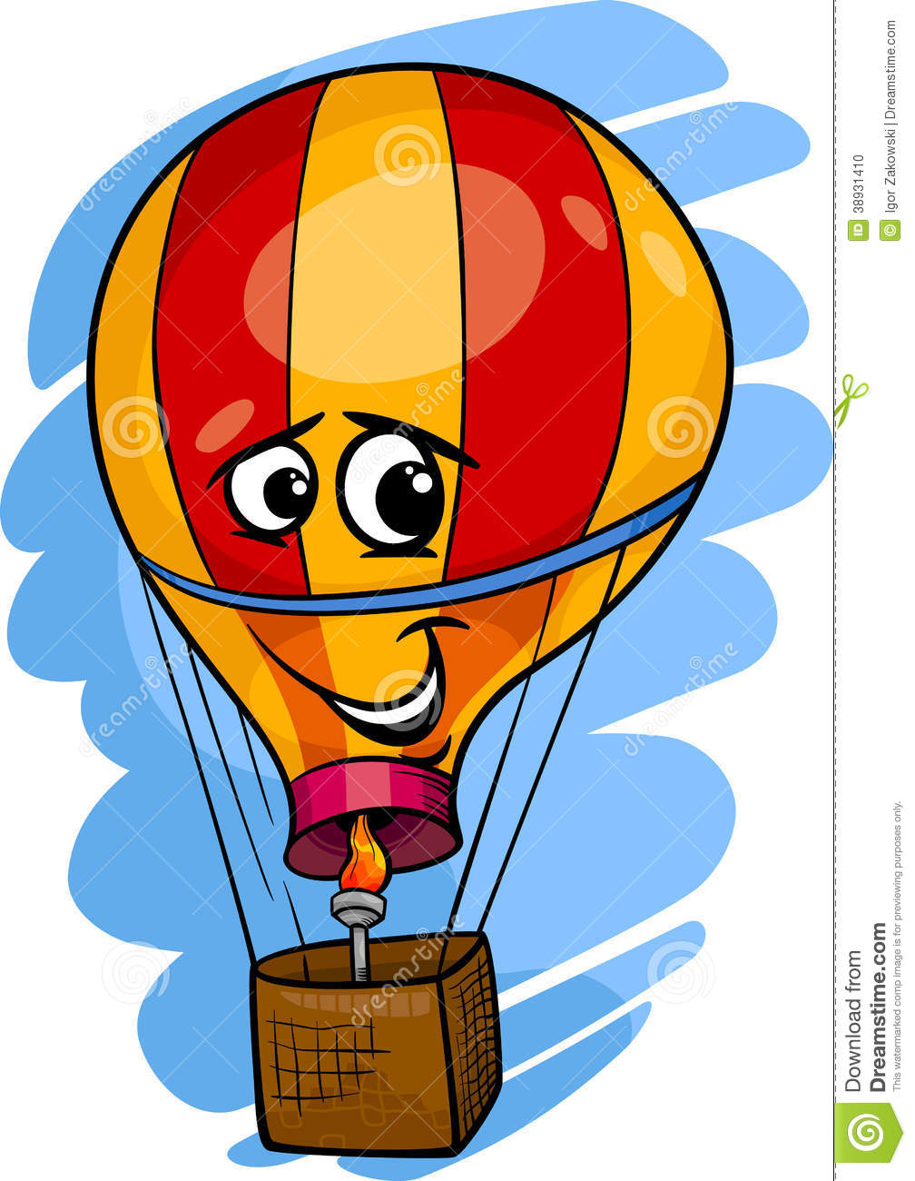 illustrazione del fumetto della mongolfiera illustrazione Deflated Hot Air Balloon Clip Art Deflated Hot Air Balloon Clip Art