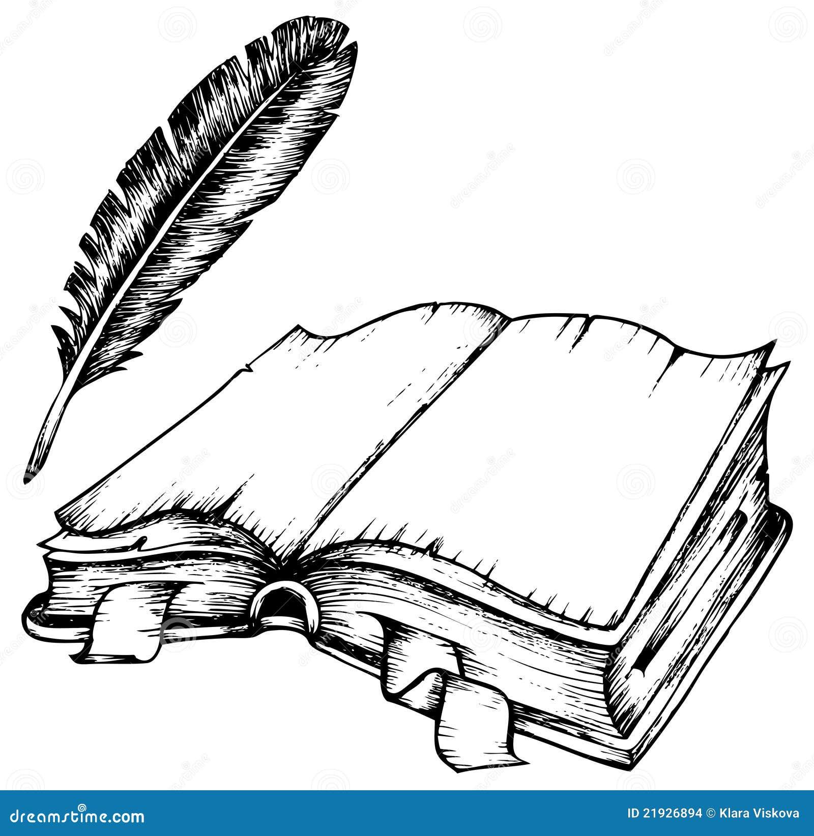 Libro Antico Aperto Disegno