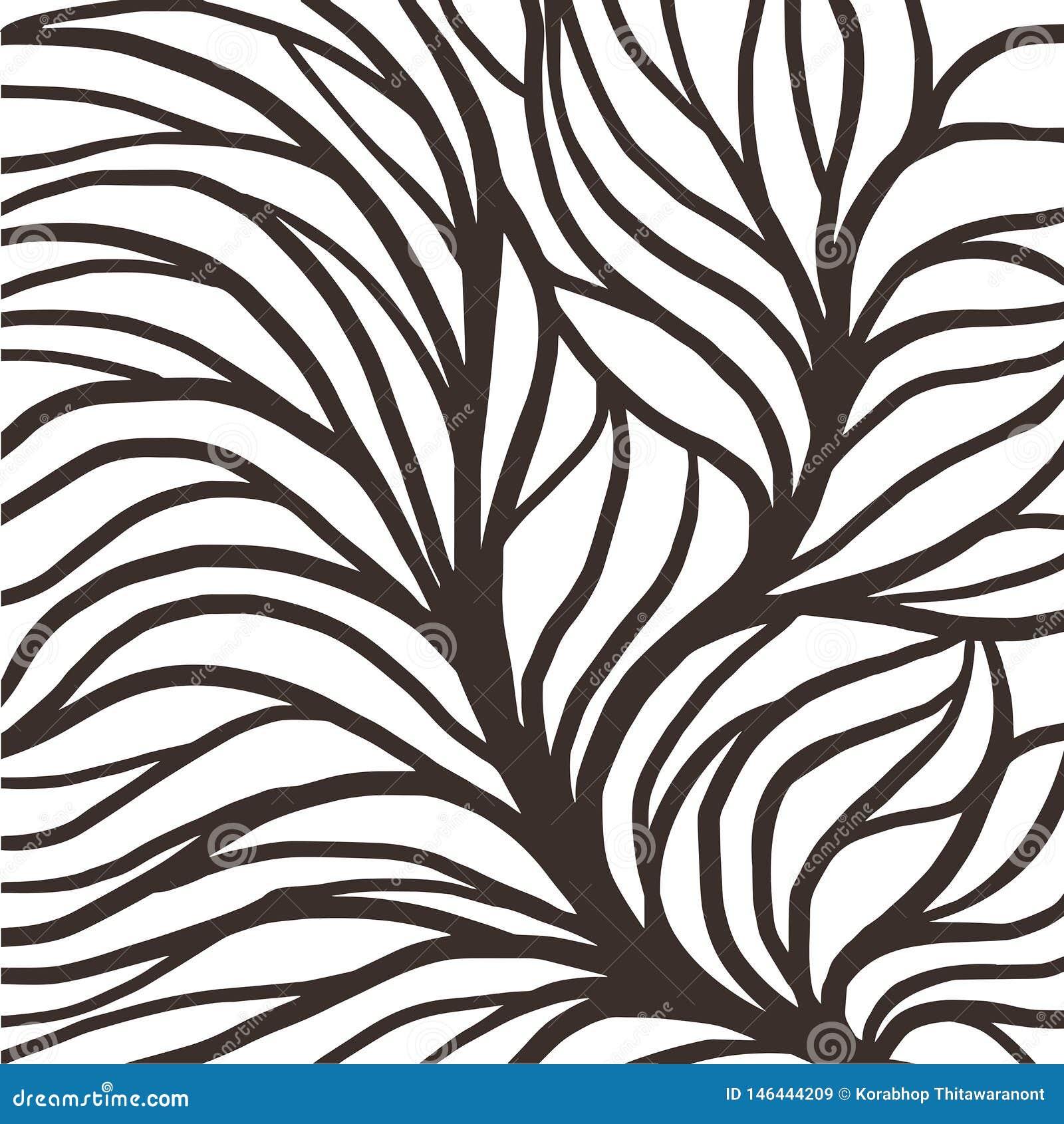 Illustrazione del modello della radice per il tessuto e la stampa