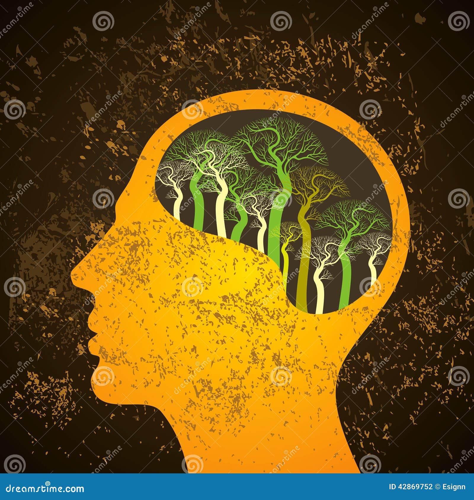 Illustrazione dell albero del cervello, albero di conoscenza