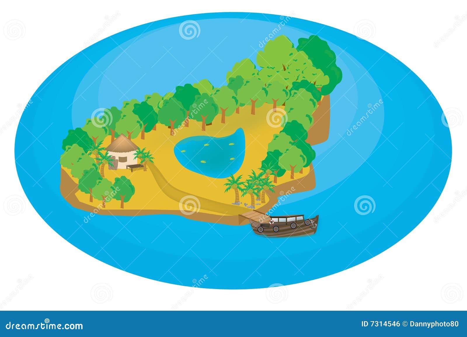 Illustrazione dell isola