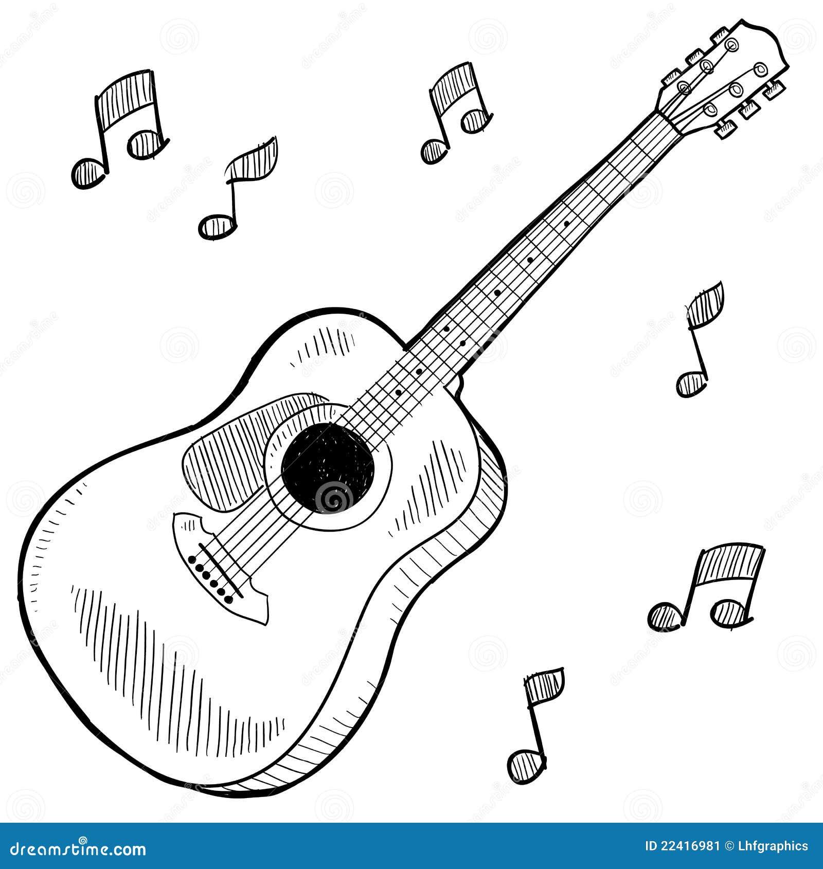 Illustrazione della chitarra acustica