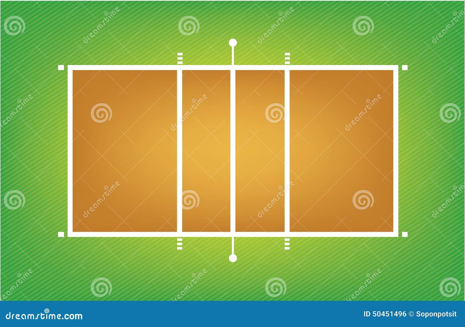 Illustrazione della corte o del campo di pallavolo - Campi da pallavolo gratis stampabili ...