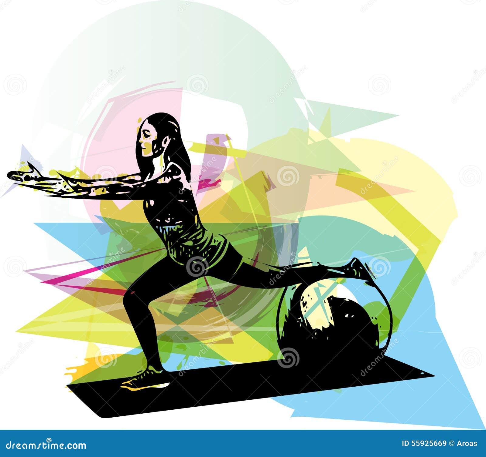 Illustrazione della donna di yoga